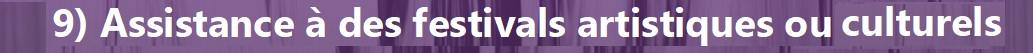 Festivals artistiques ou culturels