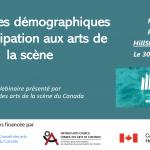 Page couverture : Tendances démographiques et participation aux arts de la scène